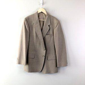 Oakton Mens 44S W39 Wool Blend Tan Sports Coat